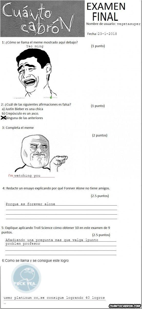 Otros - Examen de cc