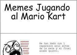 Enlace a Rages comics jugando Mario Kart