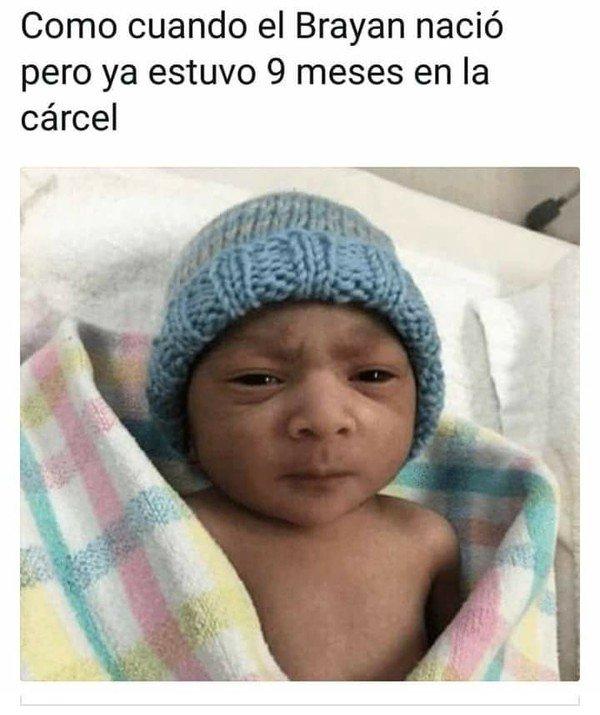 Meme_otros - El Brayan nace con mucha experiencia