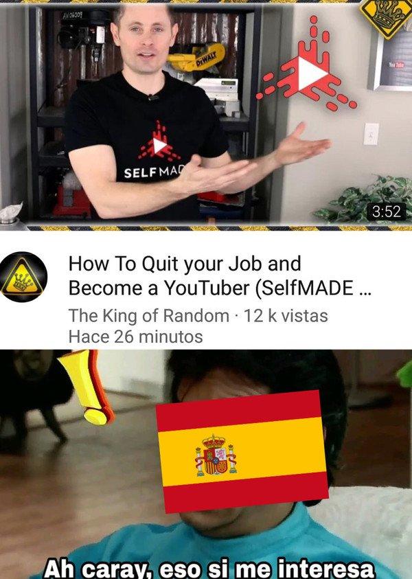 Meme_otros - España y los youtubers