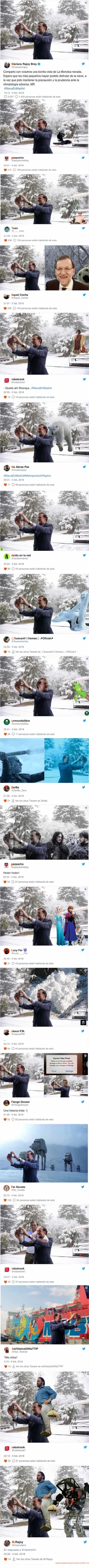 Meme_otros - Mariano Rajoy se hace un selfie con la nieve e internet se llena de montajes