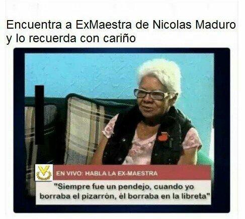 Meme_otros - La maestra de Nicolás Maduro