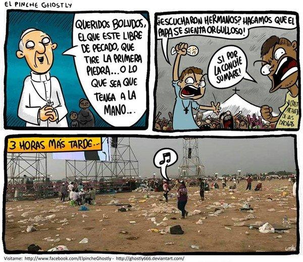 Otros - Siempre que el Papa visita un país...