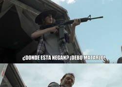Enlace a La razón de porque Carl quiere perdonar a Negan