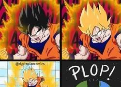 Enlace a Goku empleando su máxima fuerza
