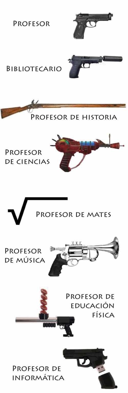 Meme_otros - Las diferentes armas con las que Trump armaría a sus profesores