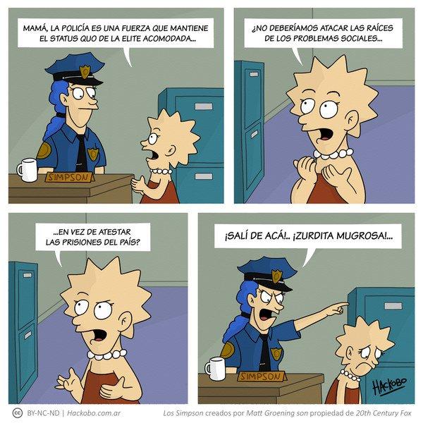 Allthethings - Lisa en contra de la policía