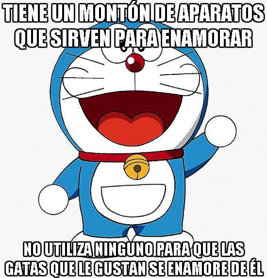 Meme_otros - Doraemon no sabe aprovechar bien sus aparatos