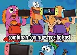 Enlace a Bob Esponja anunciando la revolucionaria Nintendo Switch
