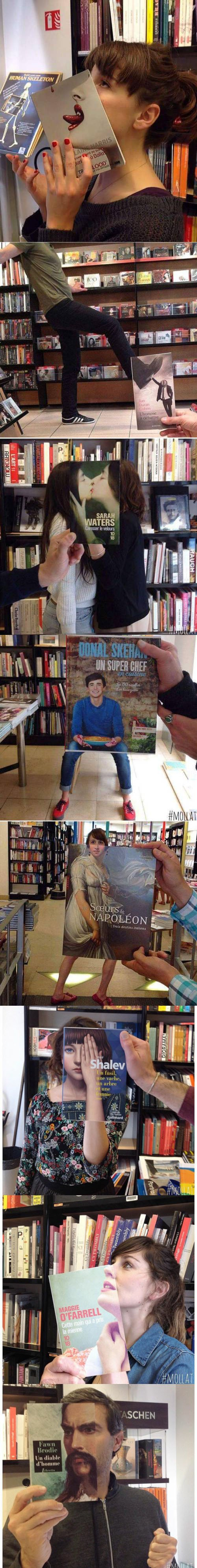 Meme_otros - Aprovechando la portada de un libro para echarse la foto perfecta