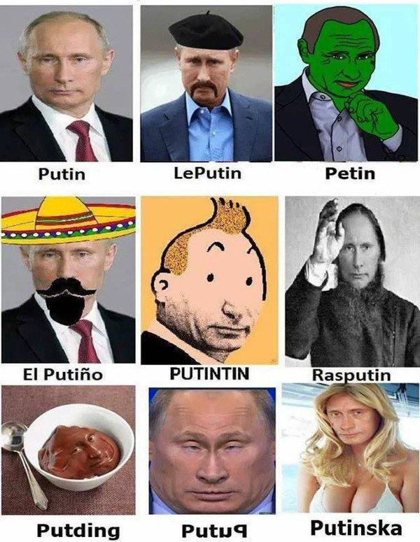 Meme_otros - Distintos tipos de Putin en la vida