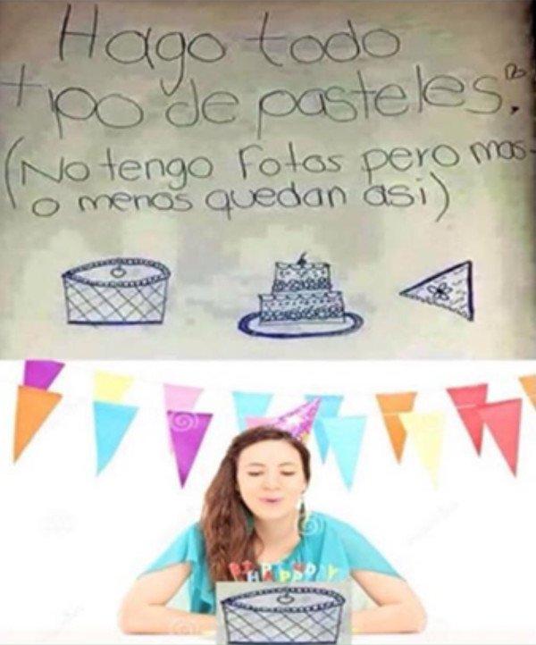 Meme_otros - Obras de arte en forma de pastel