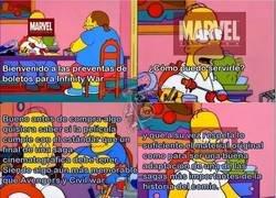 Enlace a Requisitos antes de ver una peli de Marvel