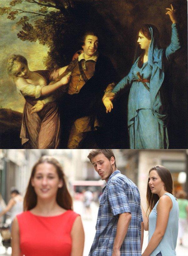 Meme_otros - Cuando te das cuenta que en el siglo 18 ya existían los memes