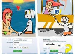 Enlace a No es fácil encontrar el amor para un robot en Facebook