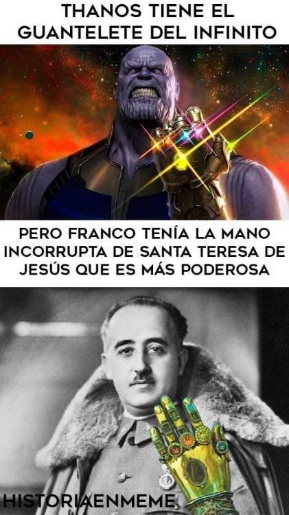 Meme_otros - Franco es más poderoso que Thanos