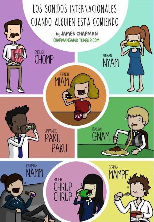Otros - Los diferentes sonidos de como comemos en algunos países