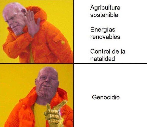 Meme_otros - Thanos y su visión del universo