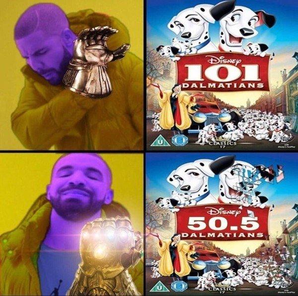 Meme_otros - Thanos no está feliz con tantos seres