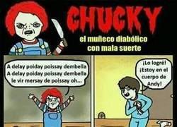 Enlace a Chuky, el muñeco malvado con mala suerte