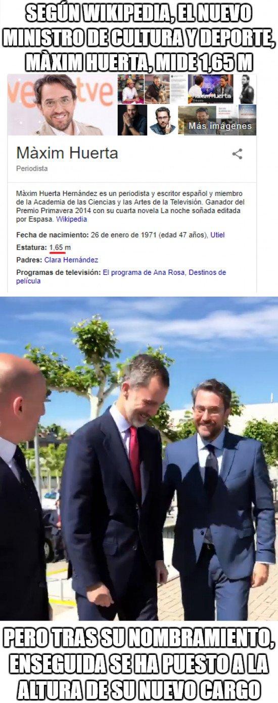 Meme_otros - Qué rápido ha crecido Màxim Huerta desde que es Ministro de Cultura y Deporte hace pocos días