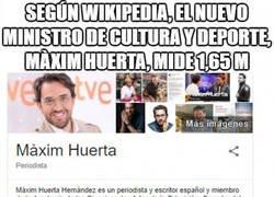 Enlace a Qué rápido ha crecido Màxim Huerta desde que es Ministro de Cultura y Deporte hace pocos días