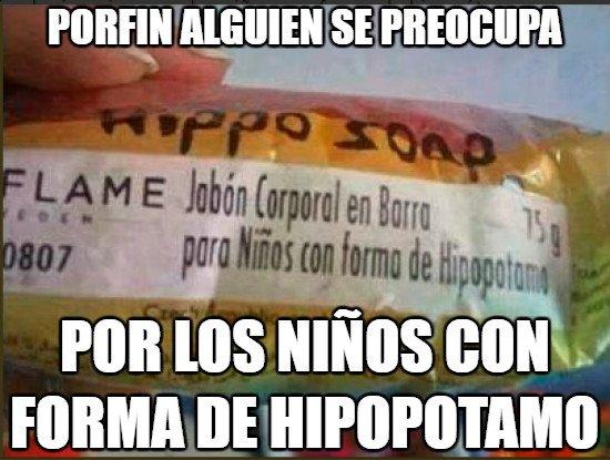 forma de hipopótamo,jabón corporal,niños
