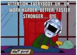 Enlace a Daft Punk de jefes es lo mejor que hay en la vida
