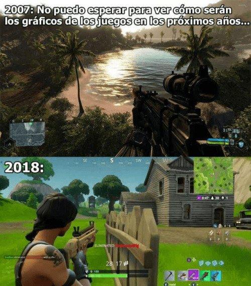 Meme_otros - La evolución de los gráficos en los videojuegos