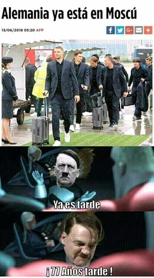 Meme_otros - Alemania llegó tarde