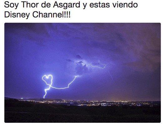Meme_otros - Thor anunciando Disney Channel
