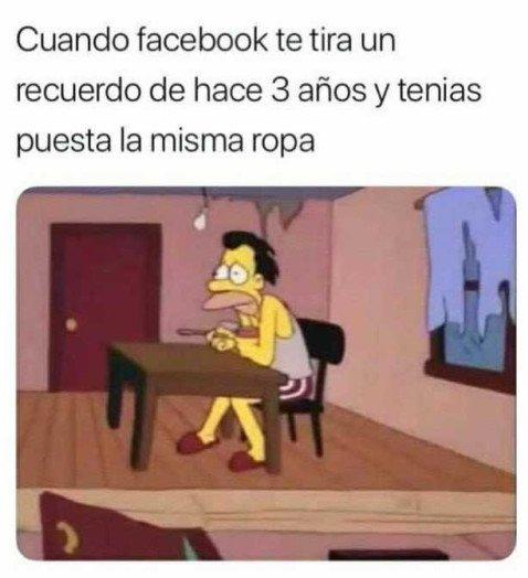 Meme_otros - Facebook es experto en recordarte lo pobre que eres
