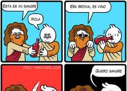 Enlace a Nunca llames sangre al vino