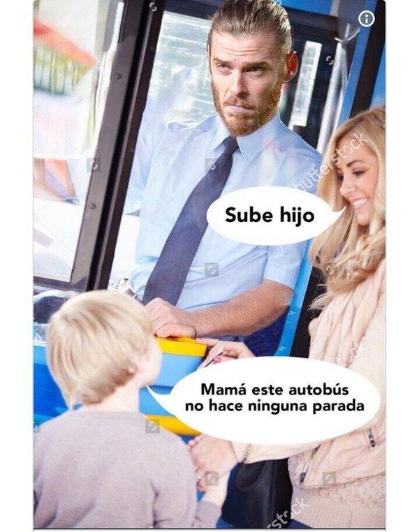 Meme_otros - De Gea de autobusero