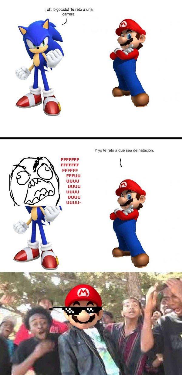 Ffffuuuuuuuuuu - Nadie se mete con el genial Super Mario
