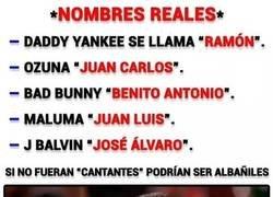 Enlace a El nombre real de los cantantes de reggaeton