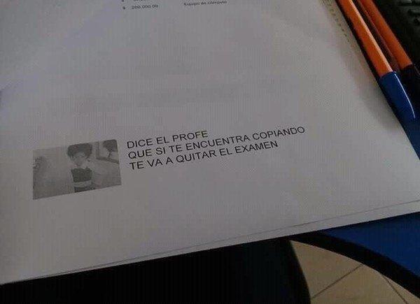 Meme_otros - Sorpresa en el examen