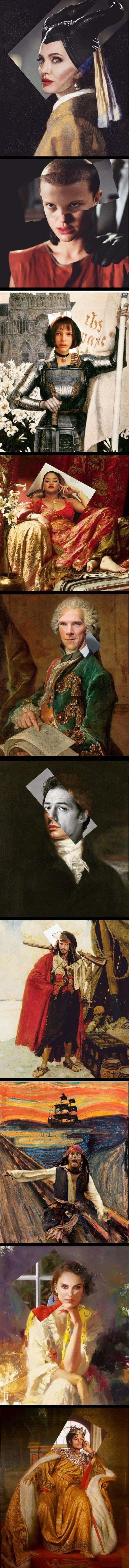 Meme_otros - Ponen la cara de varios famosos en cuadros megafamosos y el resultado es sorprendente