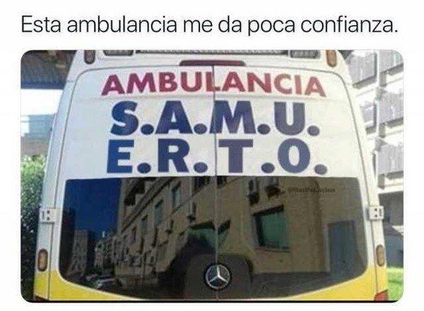 Meme_otros - Es mejor que no te lleve esta ambulancia
