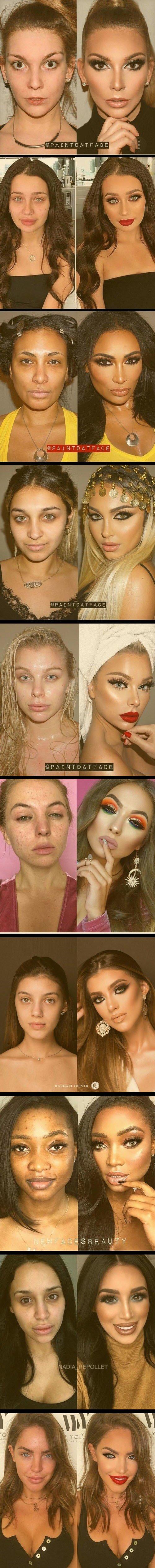 Meme_otros - El gran cambio de una mujer con y sin maquillaje