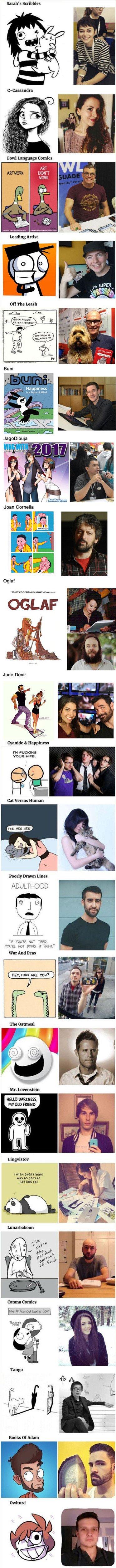 Meme_otros - Estas son las caras que hay tras los dibujos más famosos de internet