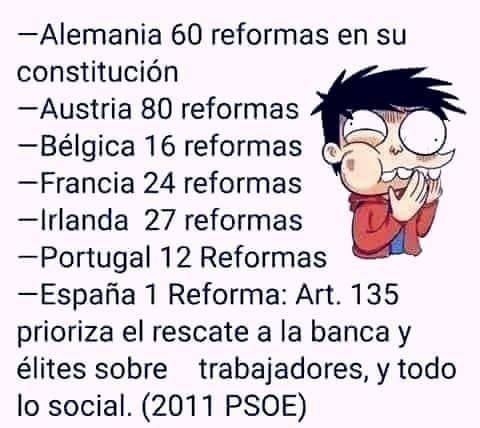 Meme_otros - En España la constitución ni se mira ni se toca