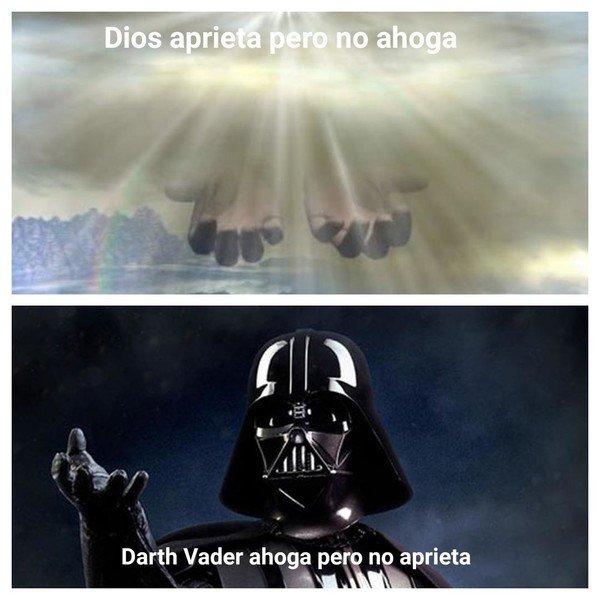 Meme_otros - Dios vs Darth Vader