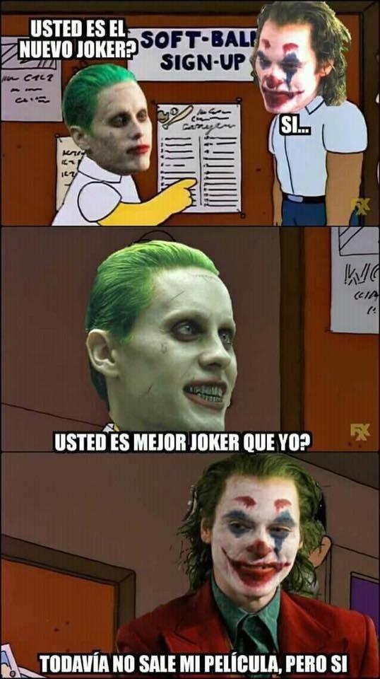 Meme_otros - No hace falta mucho para ser mejor Joker que él