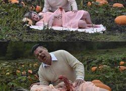Enlace a Esta pareja de embarazados parecía disfrutar de una agradable comida el campo hasta que sucedió al
