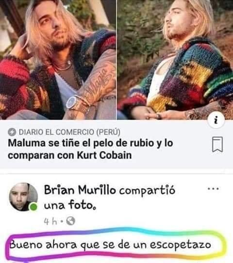 Meme_otros - Maluma es Kurt Cobain y recibió la respuesta que todos sabíamos que ocurriría