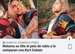 Enlace a Maluma es Kurt Cobain y recibió la respuesta que todos sabíamos que ocurriría
