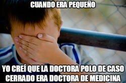Enlace a Confundiendo a la doctora polo con una doctora de medicina