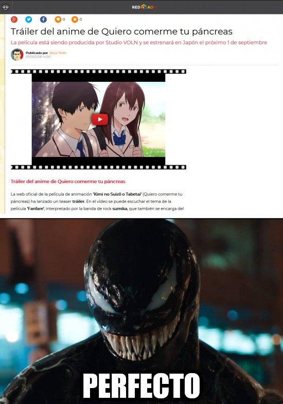 Meme_otros - El anime ideal para Venom