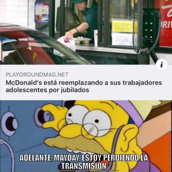 Meme_otros - McDonalds y sus nuevos trabajadores